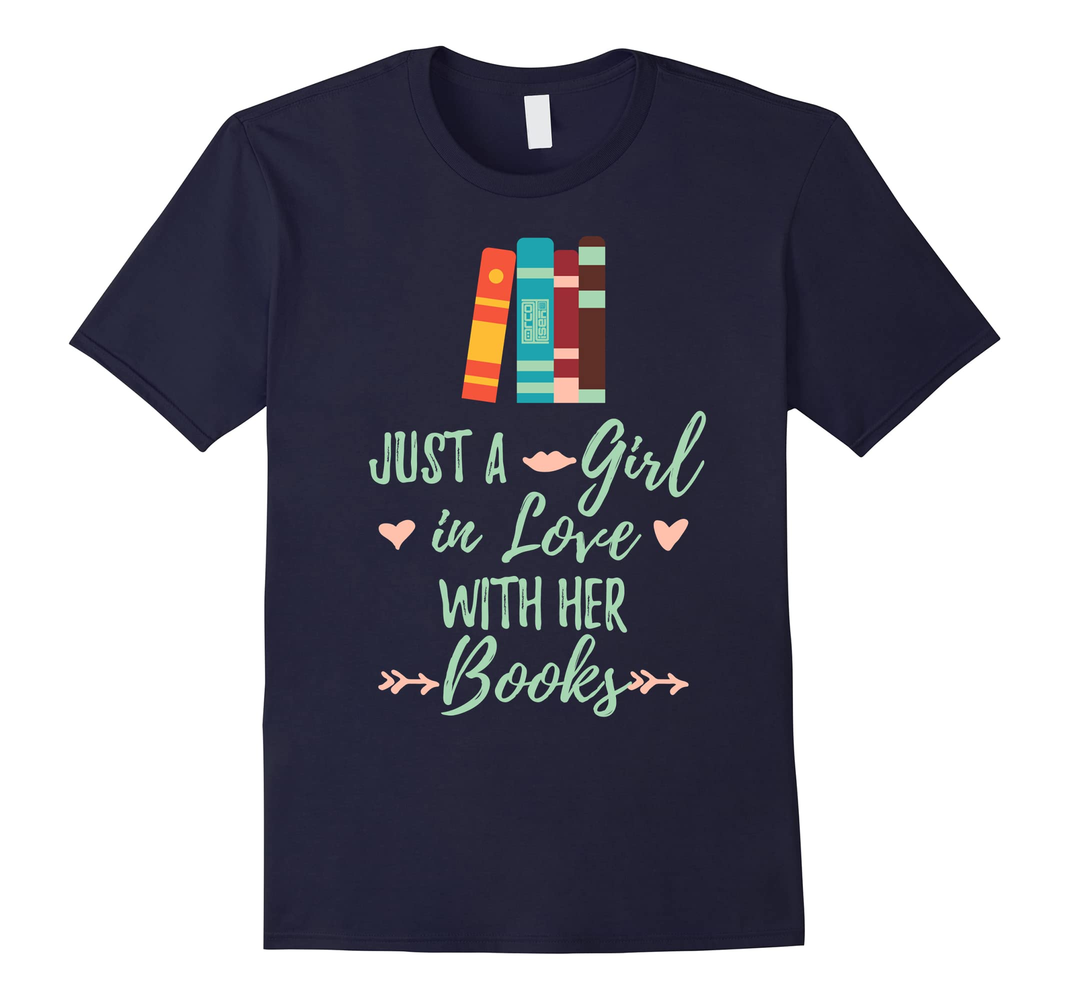 A Girl in Love With Her Books Bookworm Book Lover T-shirt-ah my shirt one gift