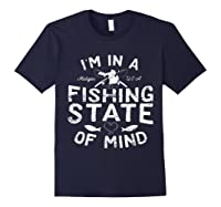 Michigan I'm In A Fishing State Of Mind Vacation Shirts Navy