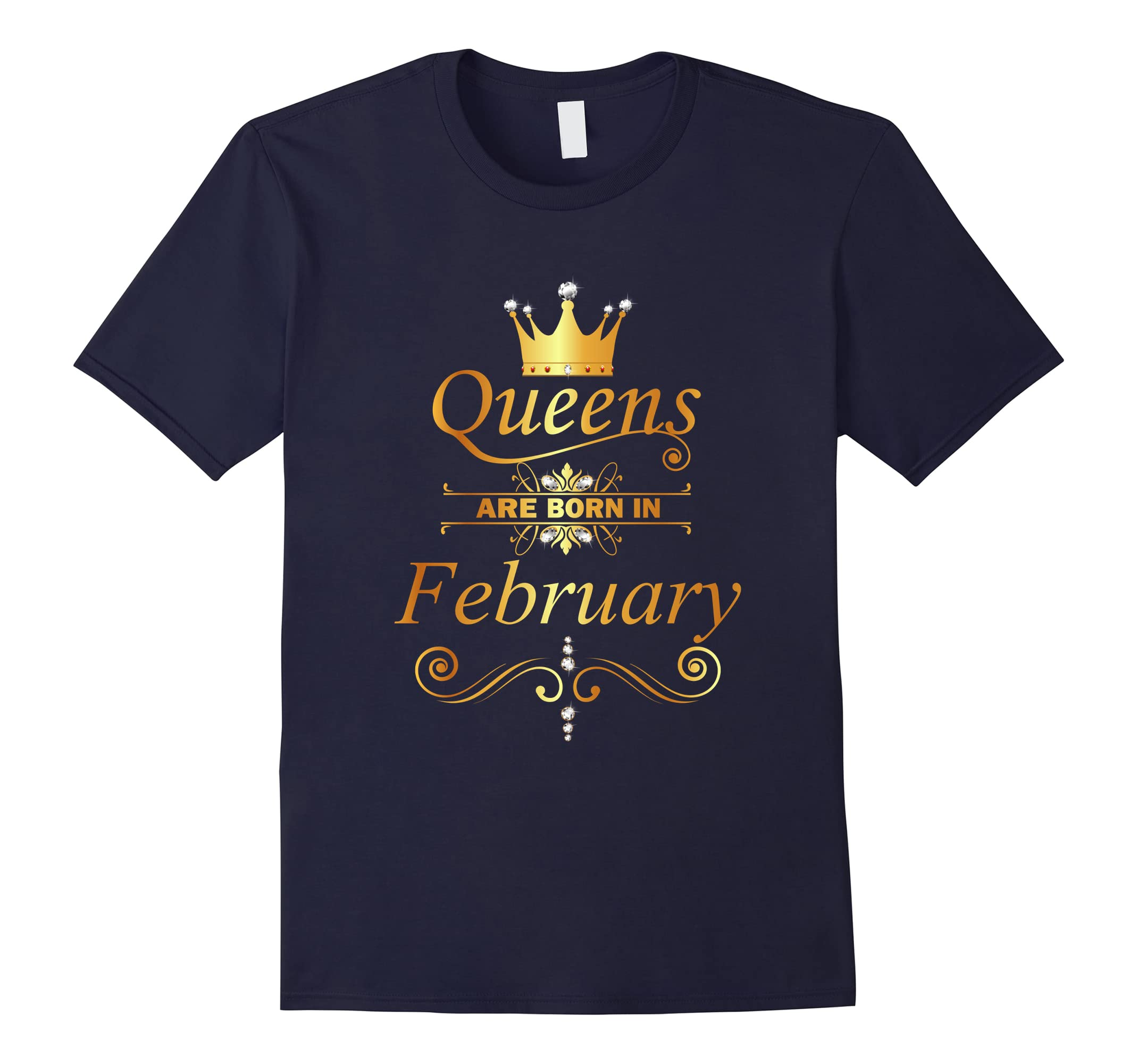 Queens Are Born In February Shirt - Diamond Edition Tee-ah my shirt one gift