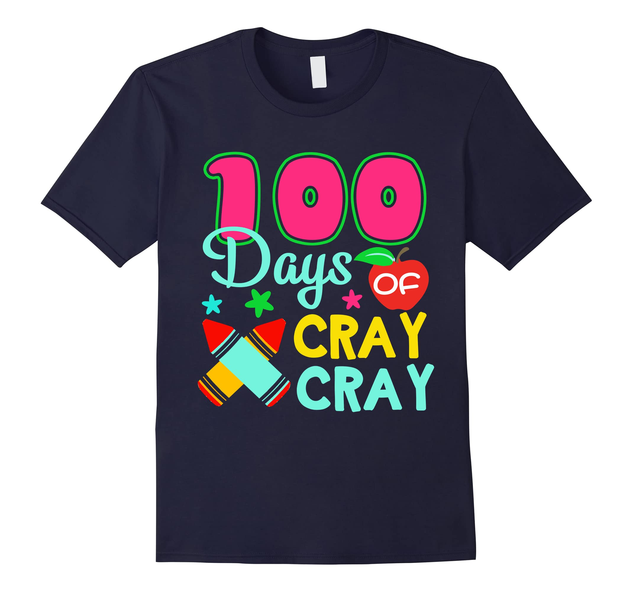 100 Days of Cray Cray 100th Day of School Kid Tshirt-ah my shirt one gift