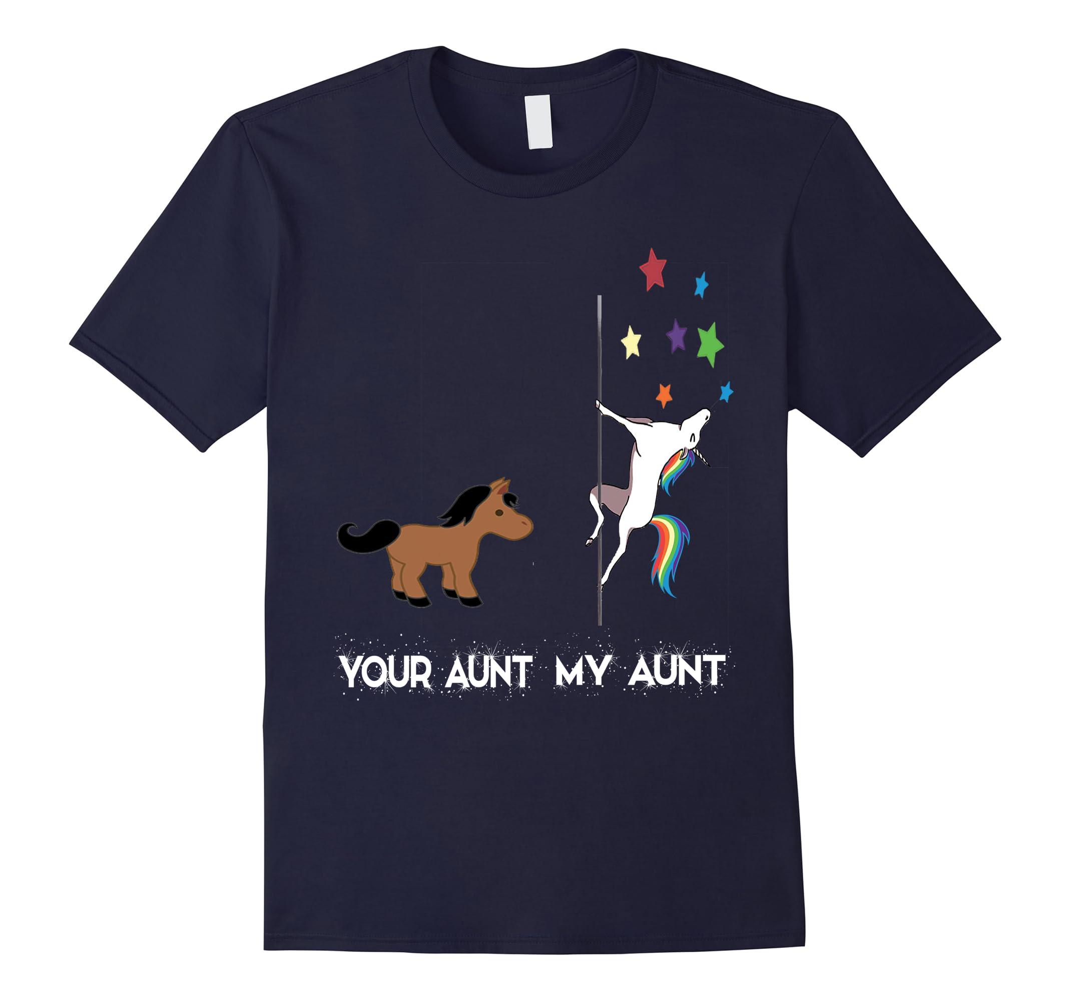 Your Aunt My Aunt Cute Unicorn T-Shirt Funny Aunt Shirts-RT