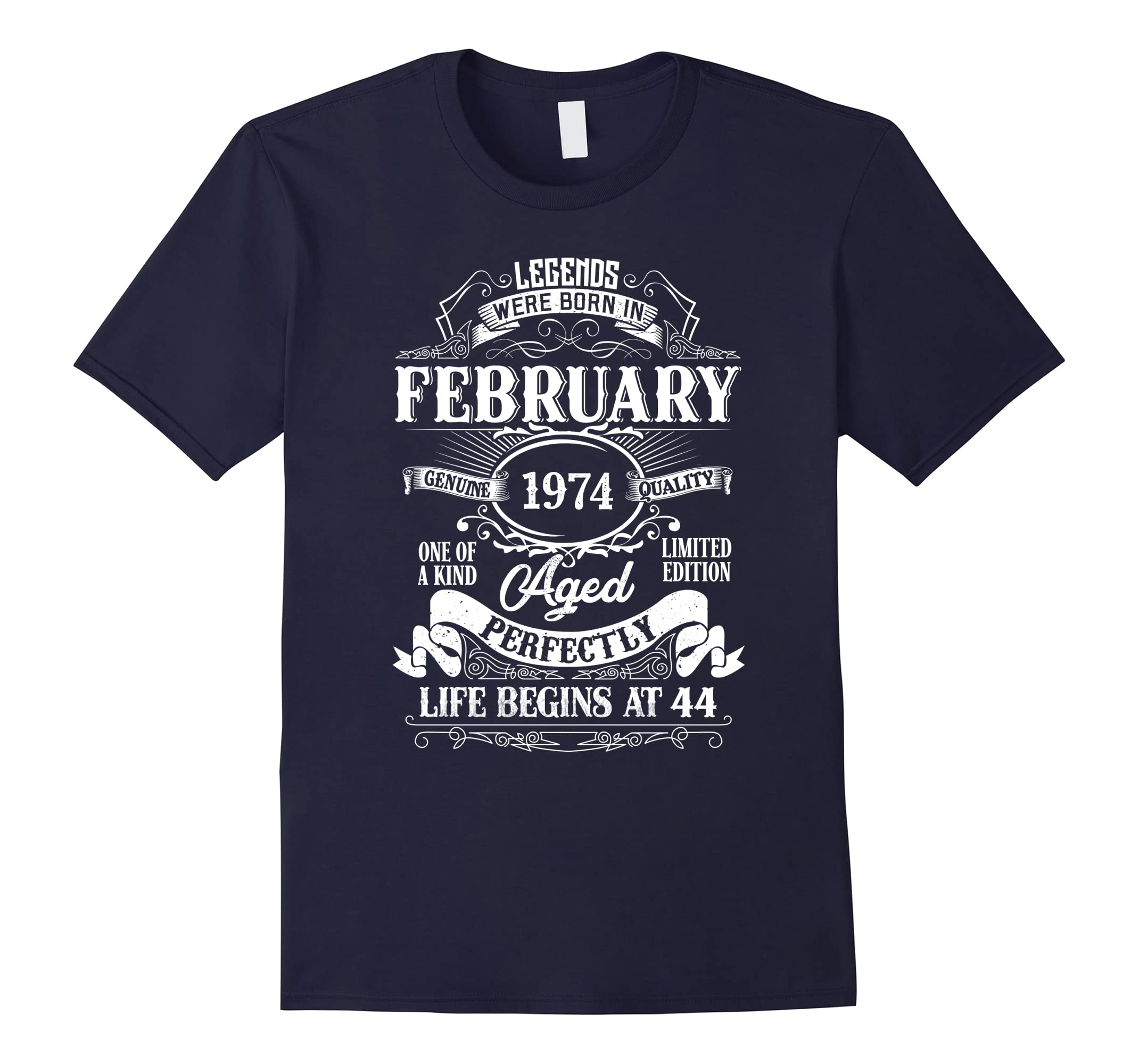 Legends Were Born In February 1974, 44th Birthday Gift Shirt-RT