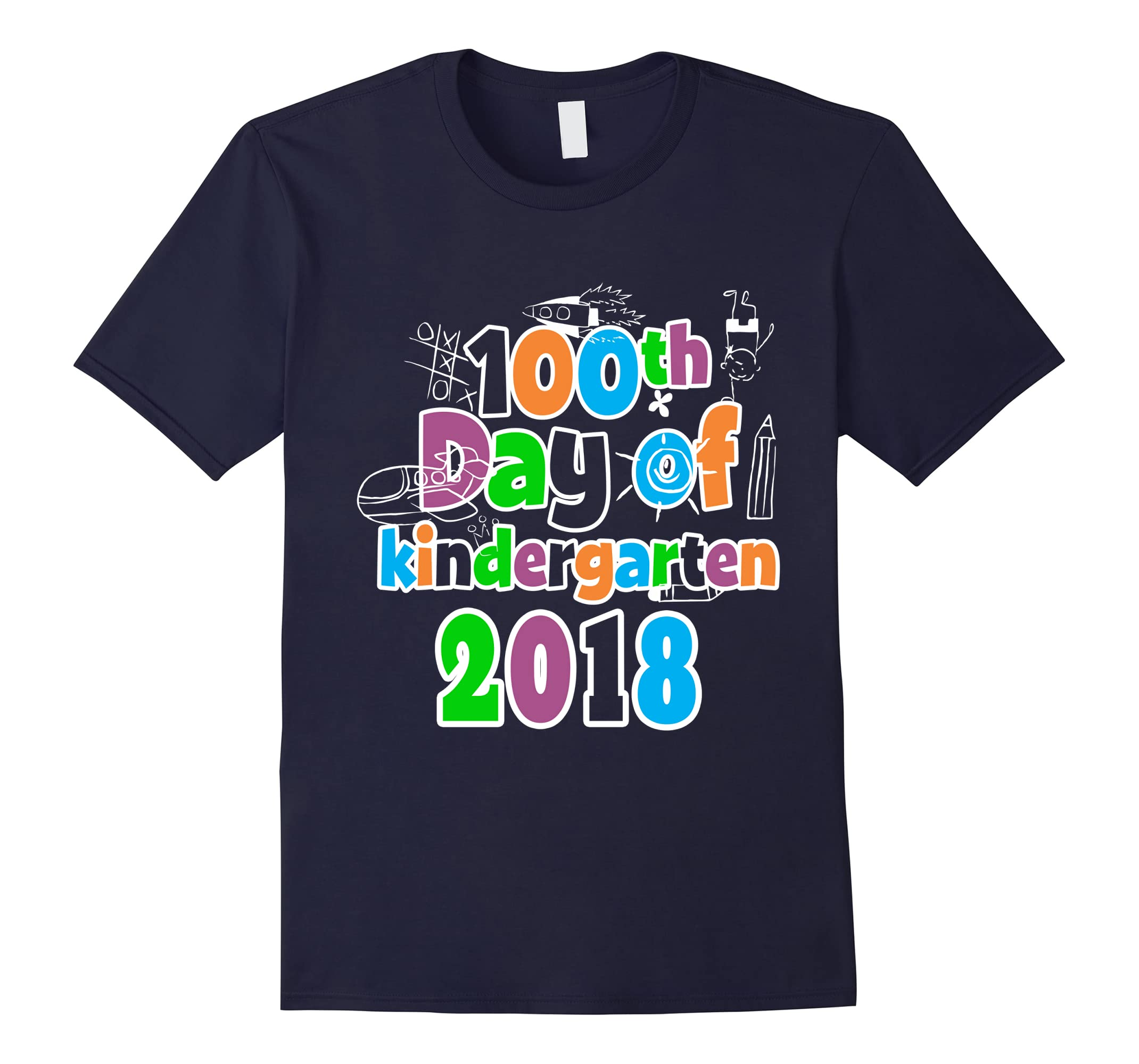 100th Day of Kindergarten Tshirt 2018 Tee 100 Days Smarter-RT