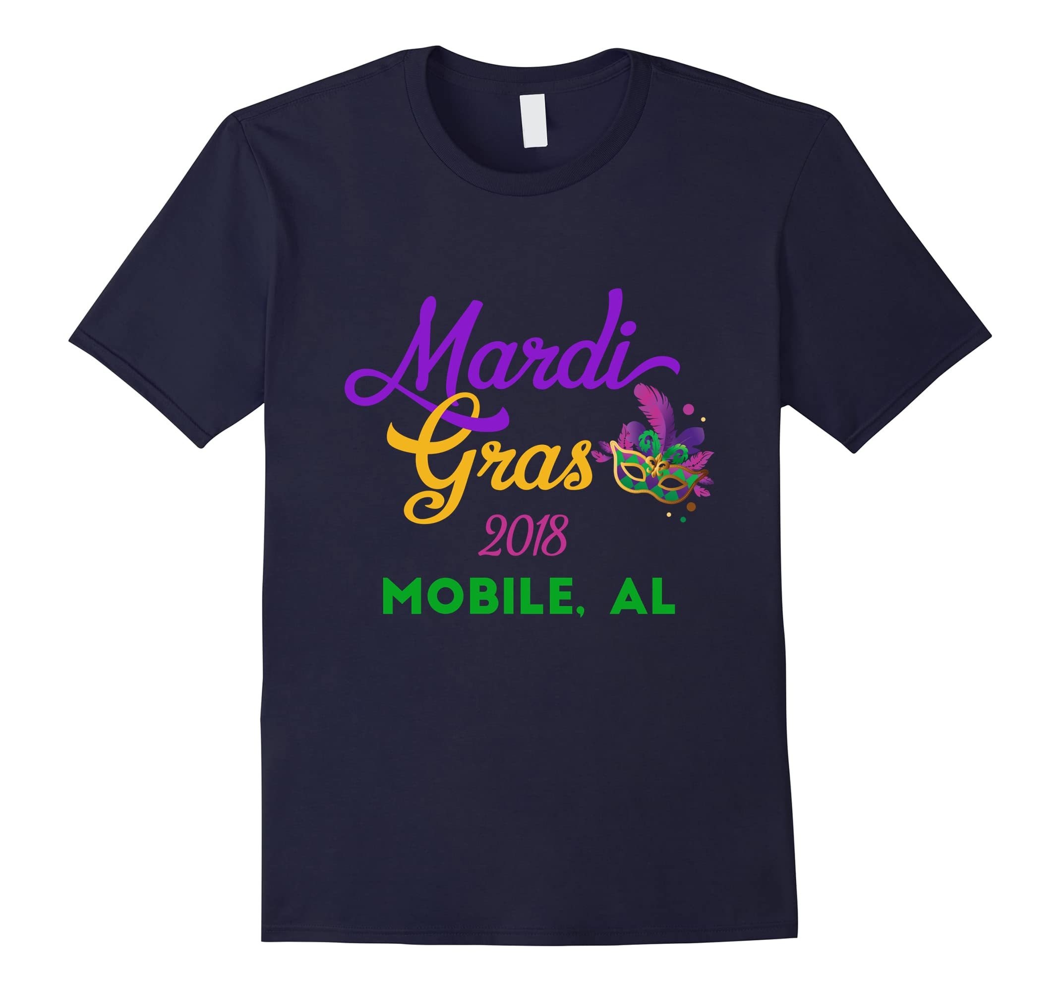 Mardi Gras Parade T-Shirt Mobile Alabama 2018-RT