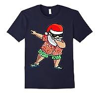 Dabbing Santa Christmas In July Hawaiian Shirt Gift Navy