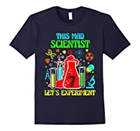 This Mad Scientist Is 7th Let's Experit 2012 Bday Shirts Navy