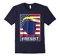 Resist Protest Rebel Political Anti Trump Impeach T Shirt Navy