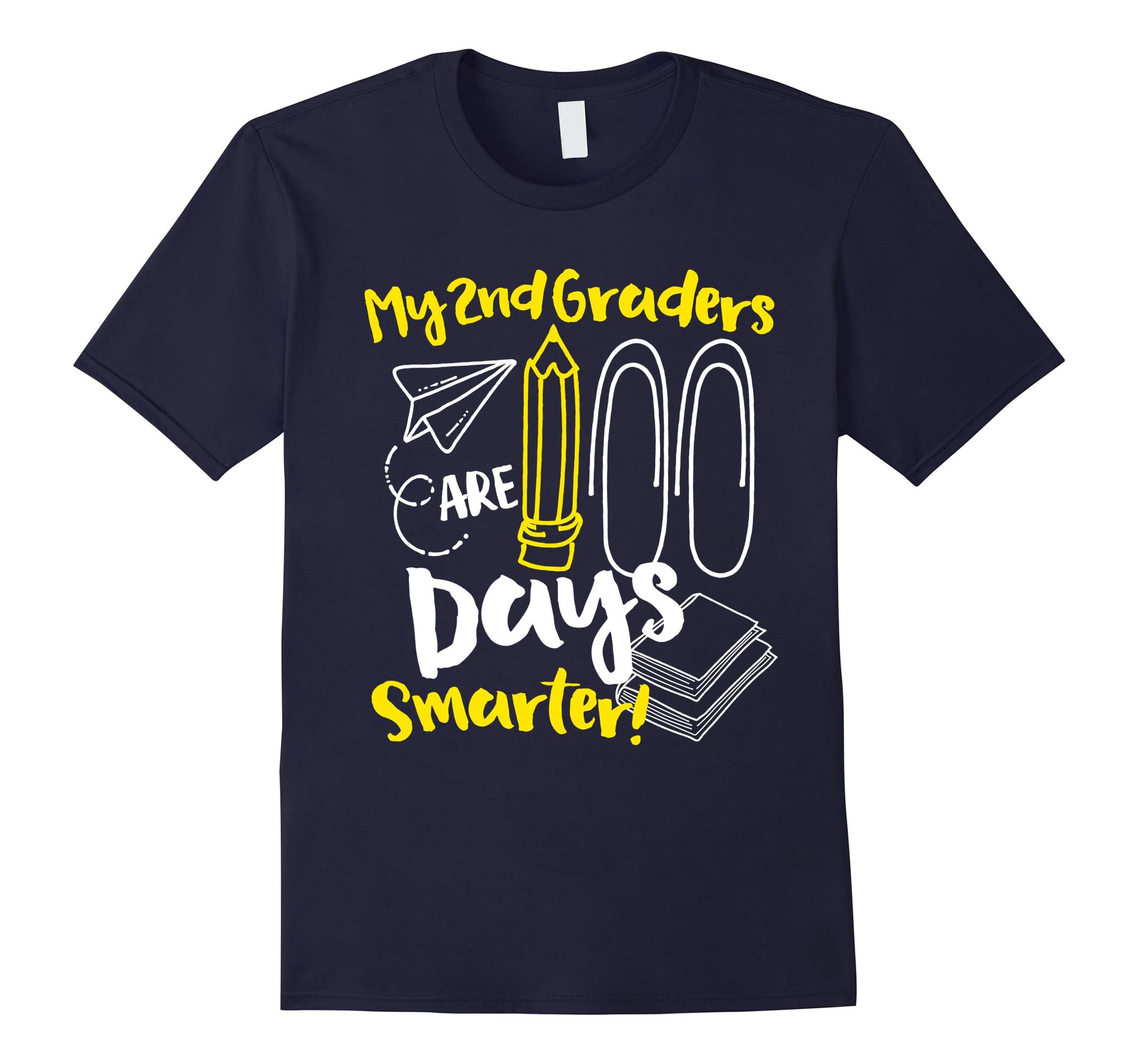 100th Day of School 2nd Grade Teacher Shirt-RT