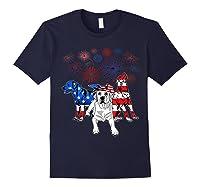 Labrador 4th Of July America Flag Gifts Shirts Navy