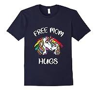 Free Mom Hugs Rainbow Gray Pride Lgbt Funny Tank Top Shirts Navy