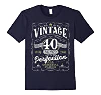 Vintage 40th Birthday Shirt, 1979, Aged To Perfection Navy