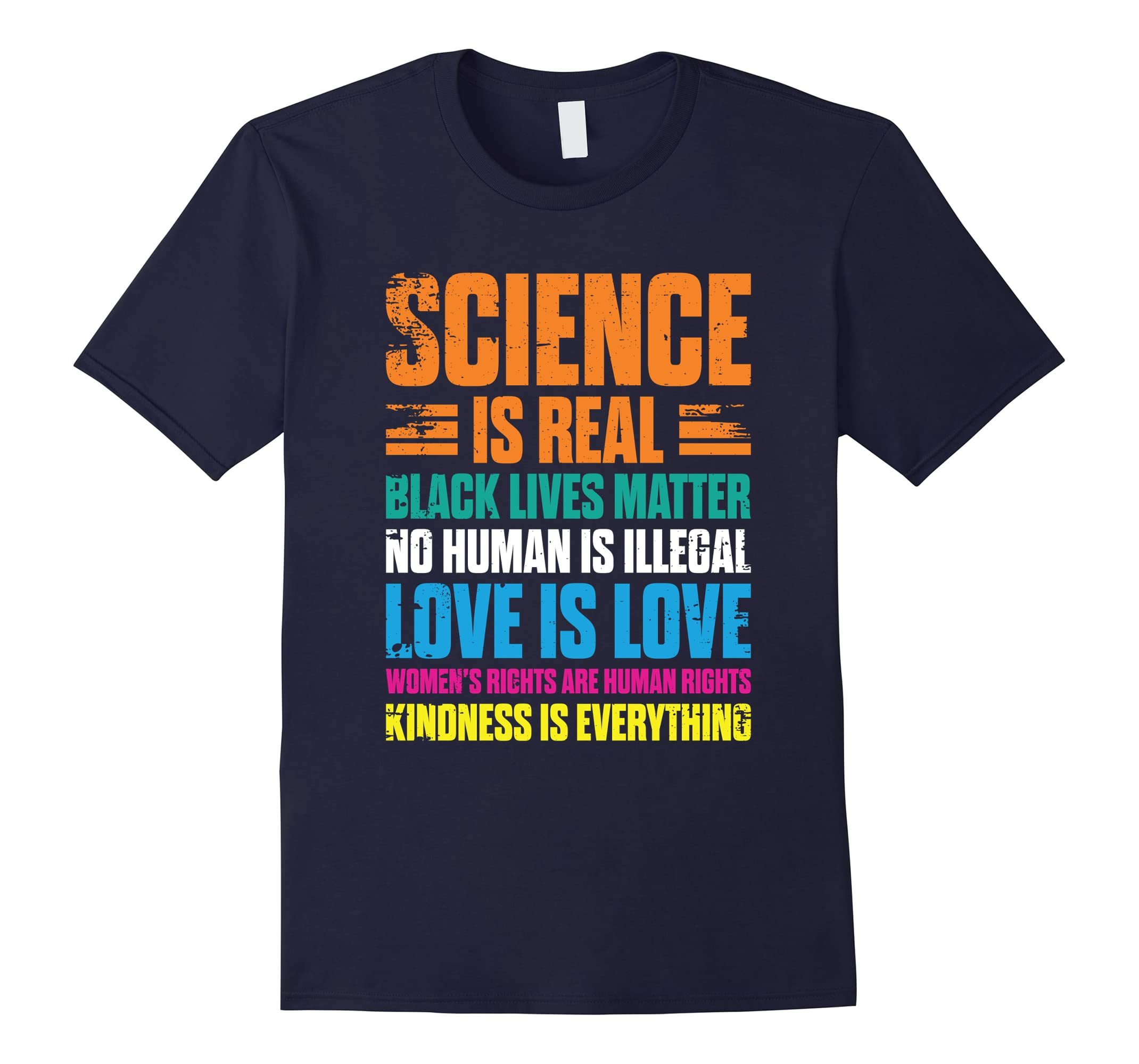 'Science is Real Black Lives Matter' Cute Bisexual Shirt-RT