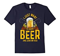 Funny Beer And Fishing Fathers Day Gift Adult Humor Shirts Navy