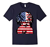 Funny Hovawart American Flag 4th Of July Shirts Navy