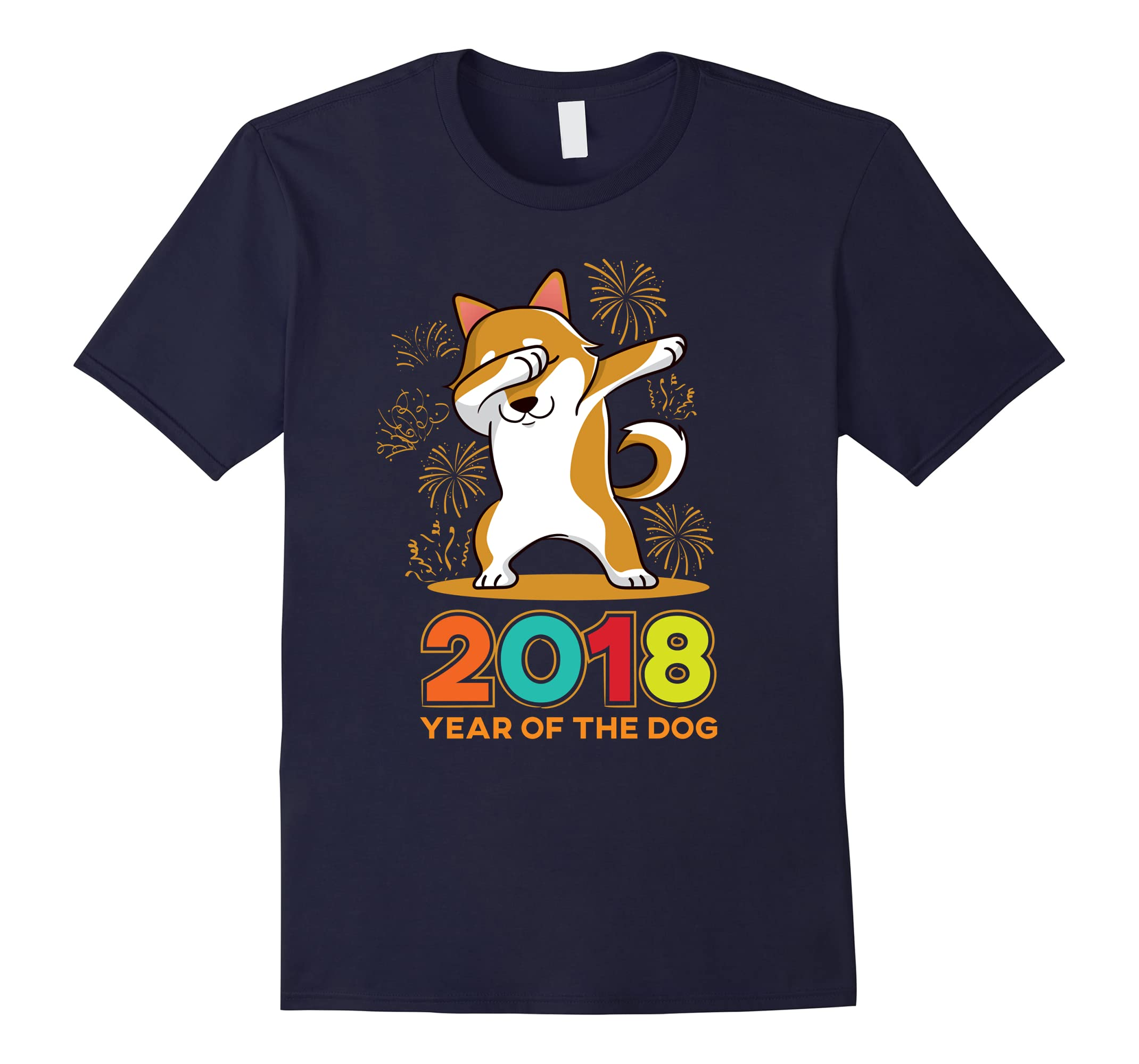 'Dabbing Shiba Inu Year Of The Dog ' Chinese New Year Shirt-RT