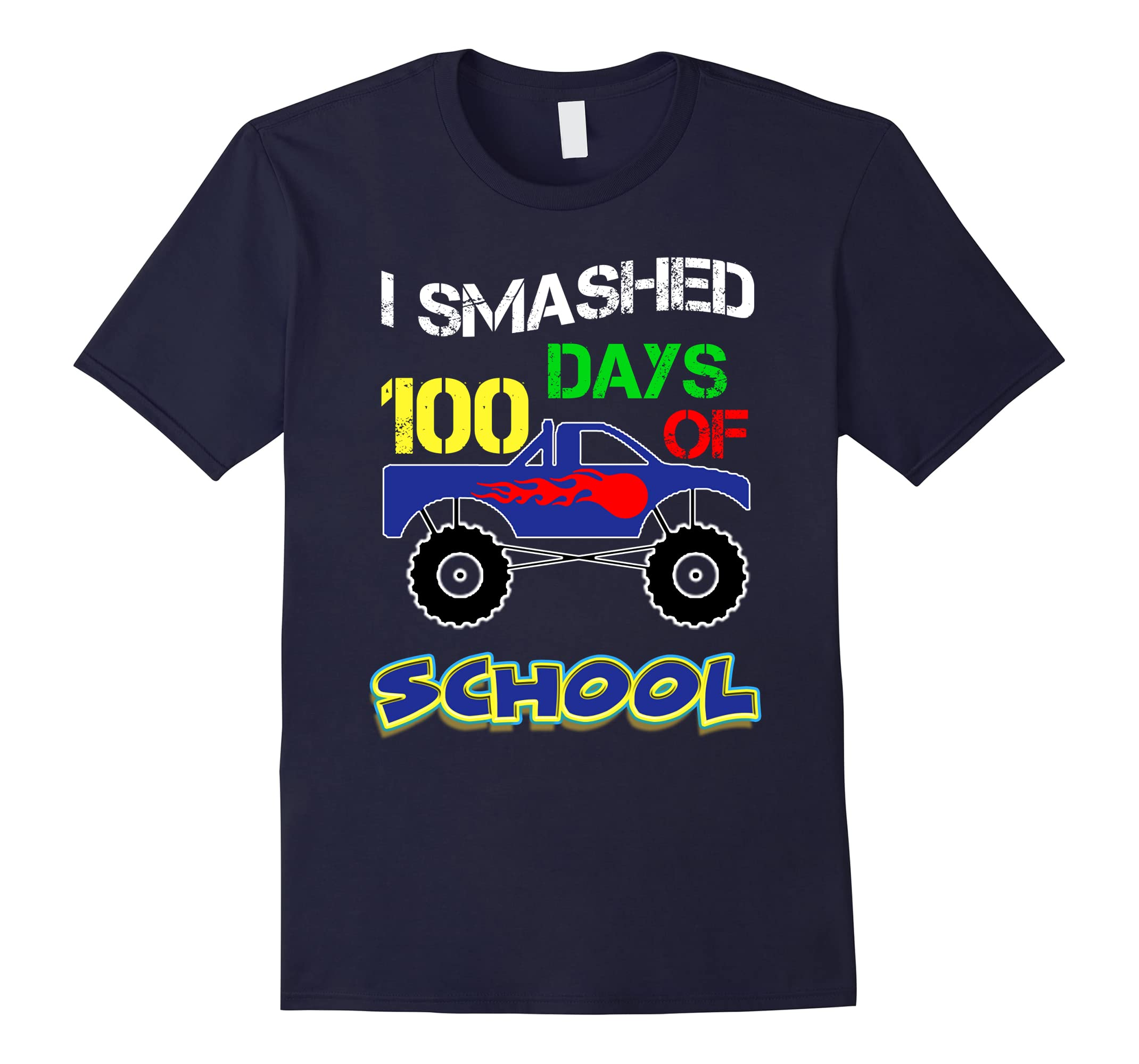100th Day Of School Funny Shirt Kids Monster Truck Theme-ah my shirt one gift