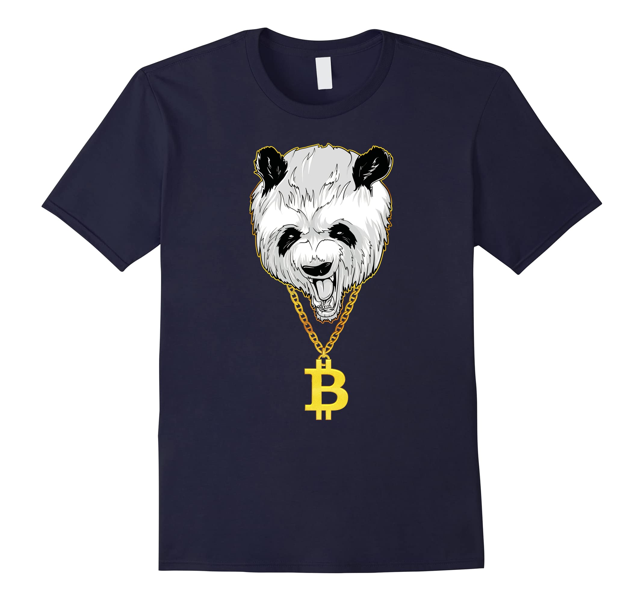 Bitcoin Cryptocurrency Panda Gangster T Shirt RT