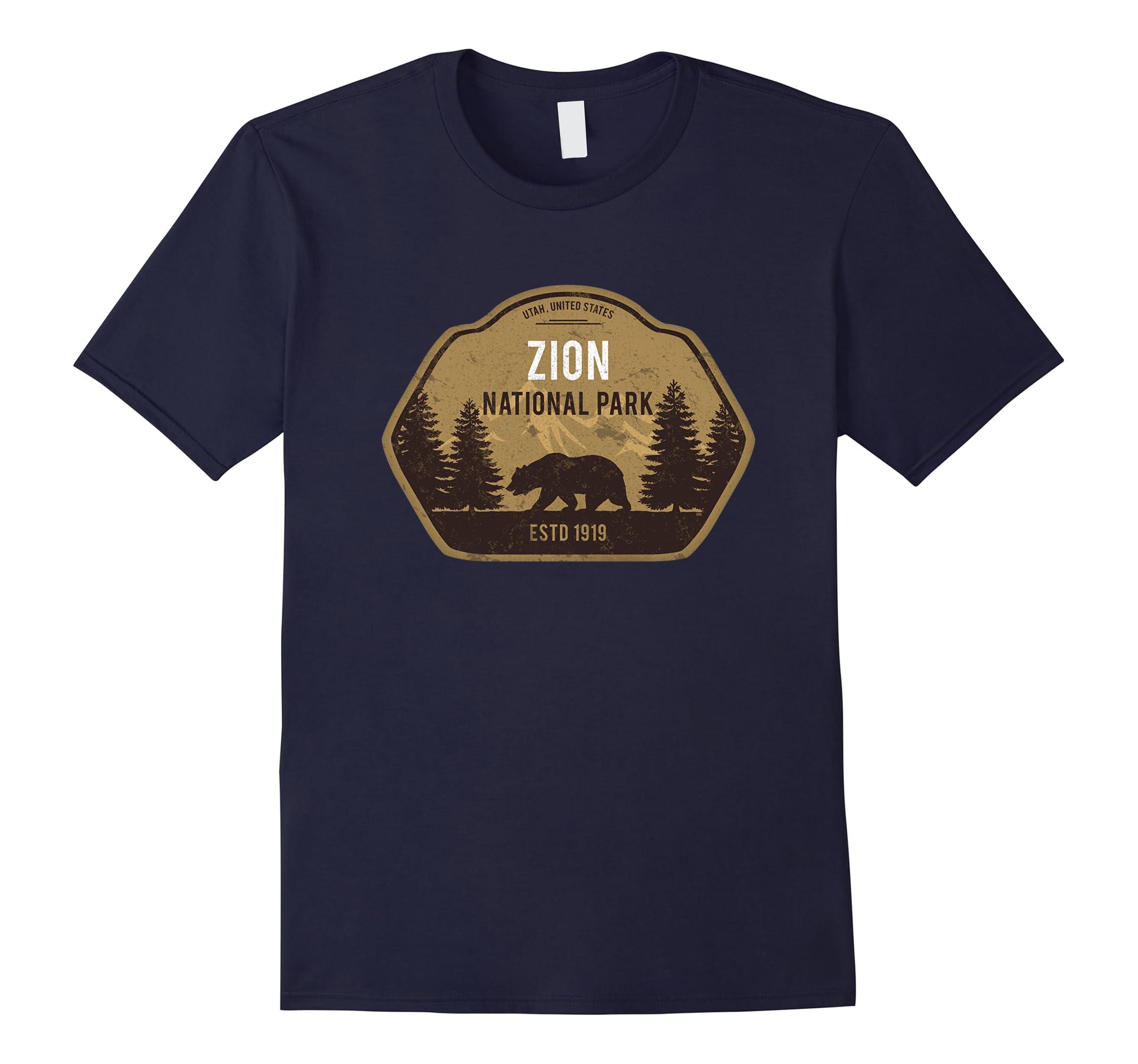 Zion National Park Utah T-Shirt Vintage Tee-RT