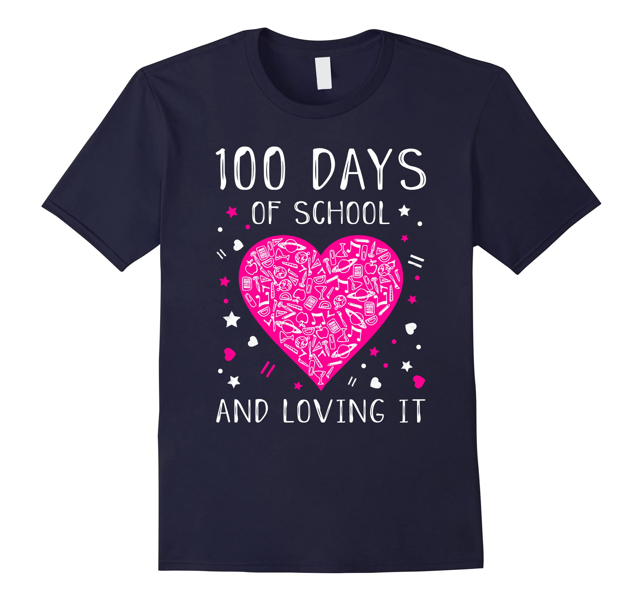 100 Days of School and Loving It Cute Heart T-shirt-ah my shirt one gift