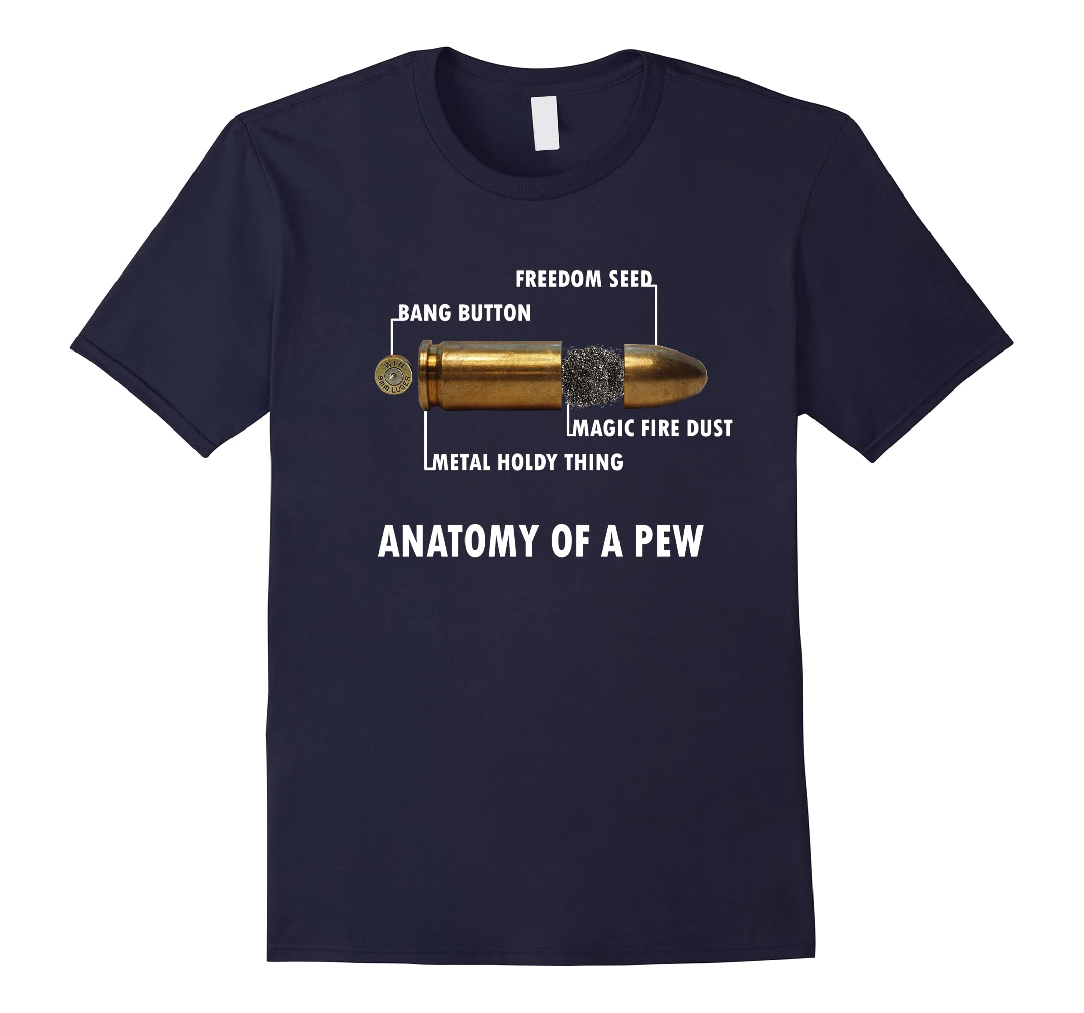 Anatomy Of A Pew Bullet Deconstruction T Shirt Gaming Fps Rt