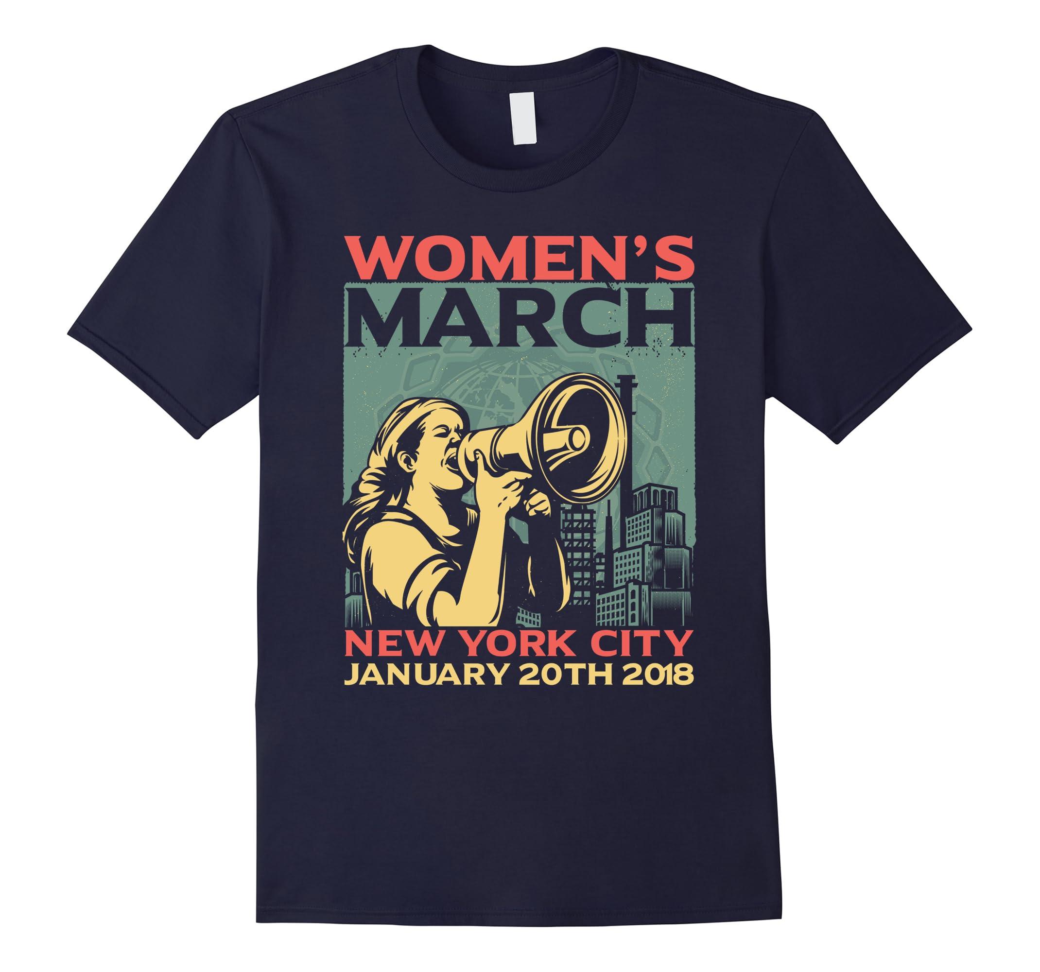Women's March New York 2018 Vintage Retro T-shirt-ah my shirt one gift