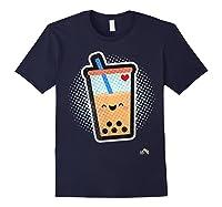 Boba Milk Tea Bubbles T-shirt Navy
