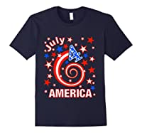 Festive 4th Of July, Independence Day Design Shirts Navy