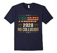 Trump 2020 No Collusion Shirts Navy