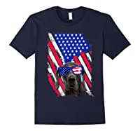 Vintage Great Dane Dog American Usa Flag Distressed Shirts Navy