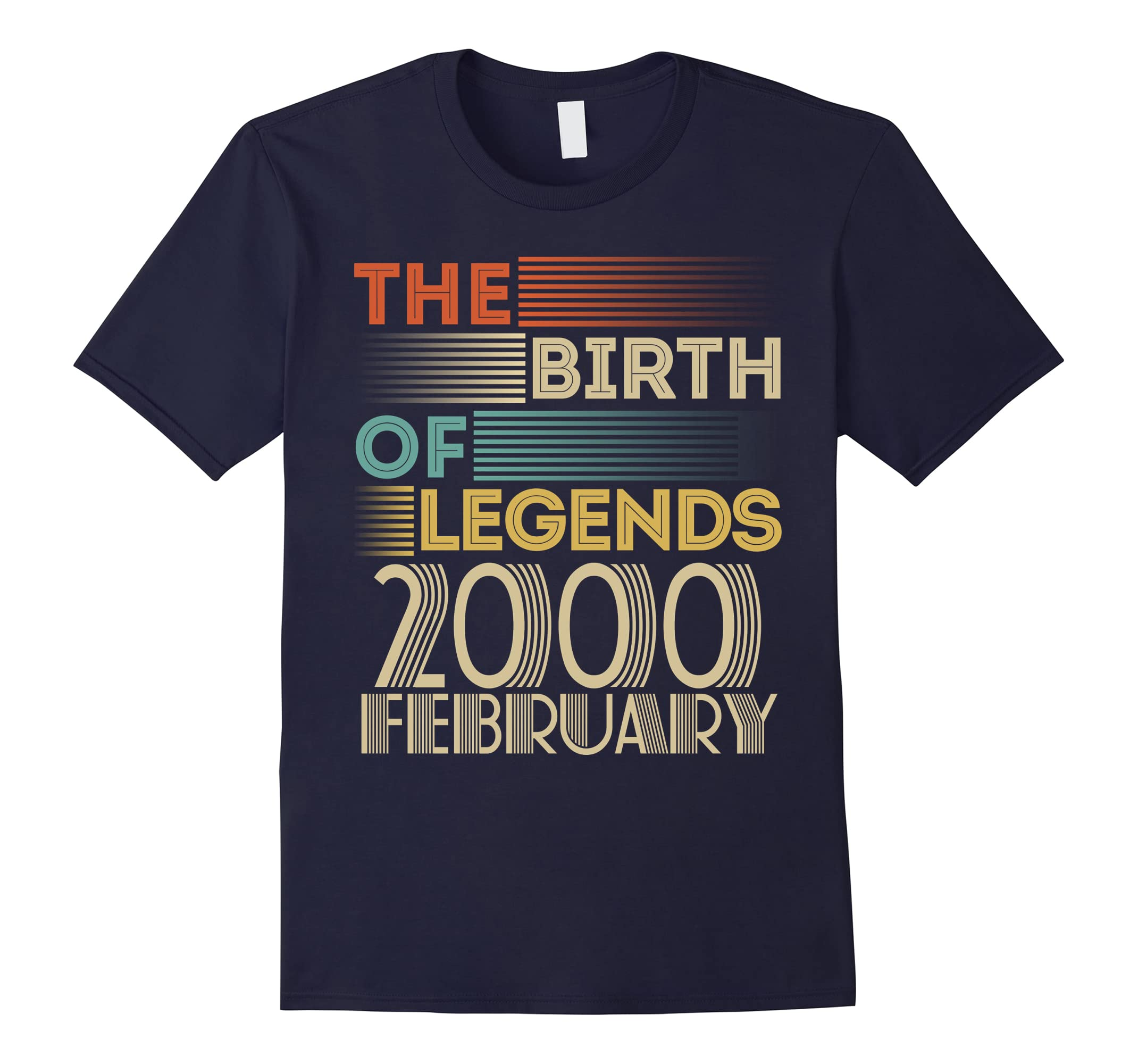 2000 FEBRUARY Vintage The Birth Of Legends 18 Yrs Years Old-ah my shirt one gift