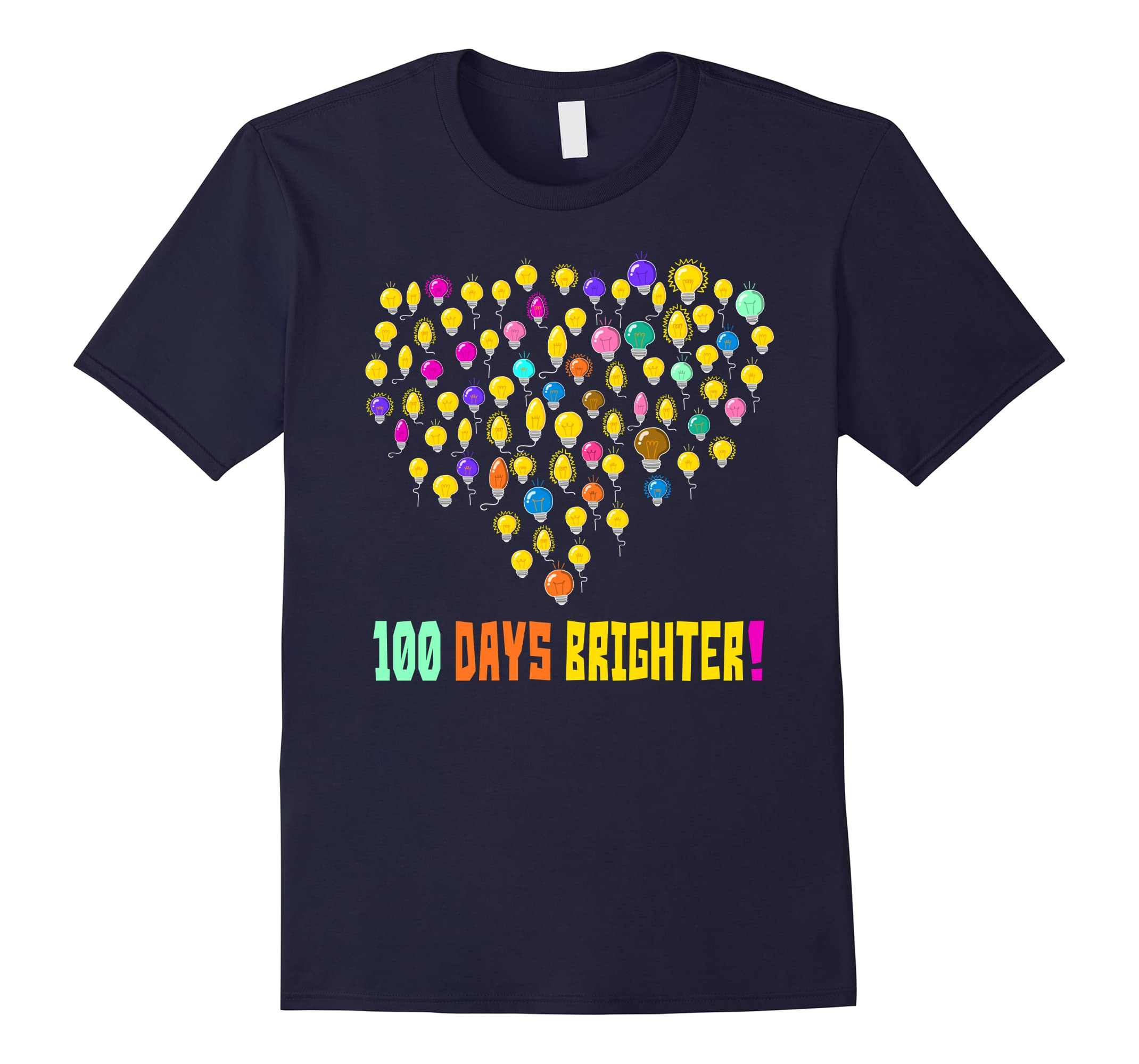 100 Days Brighter T-shirt 100th Day of School Cute Gifts-RT