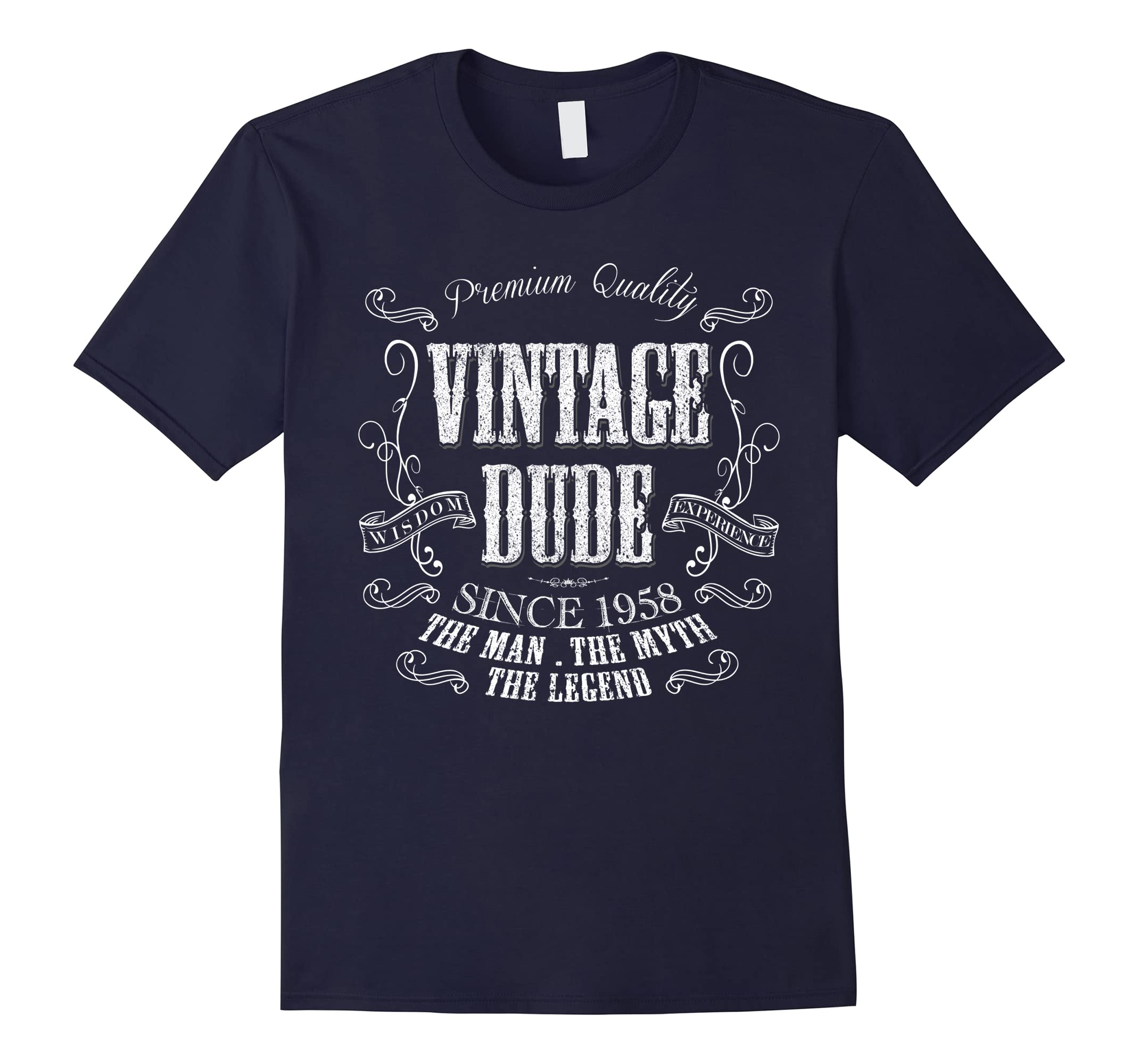 60th Birthday gift shirt Vintage dude 1958 60 year old shirt-ah my shirt one gift