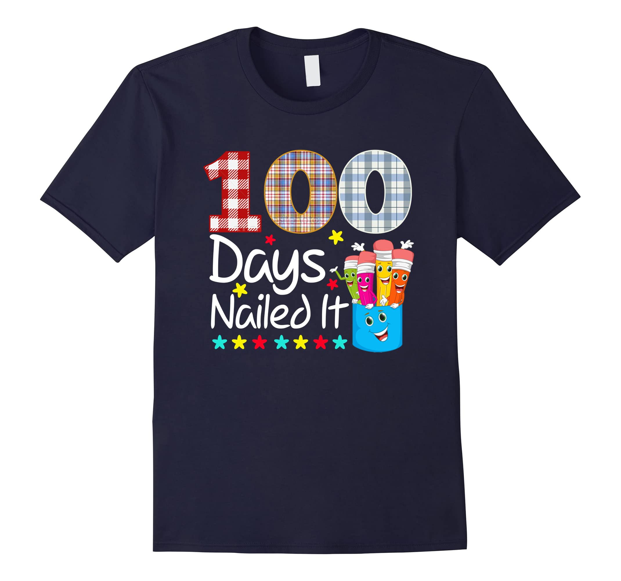 100 Days Nailed It 100th Day of School Kids & Teachers Shirt-ah my shirt one gift