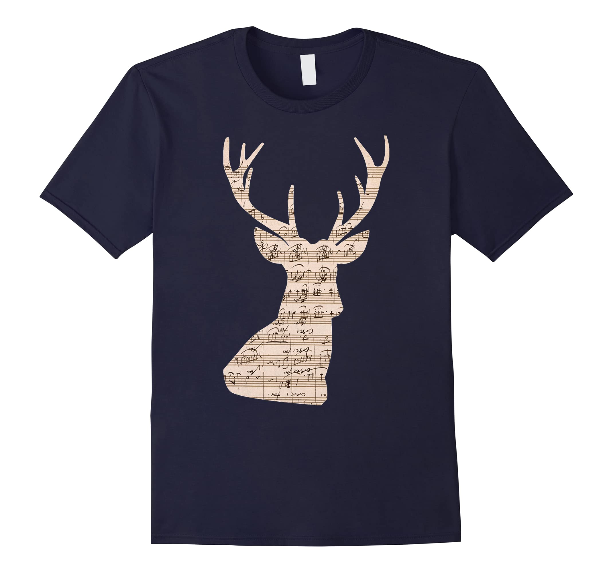 Deer Music Note Design T-Shirt-Rose
