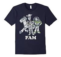 Disney Pixar Toy Story Woody Buzz Bullseye Fam Shirts Navy