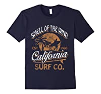 Retro Surf Shirt California Surfer Gift Cali Navy