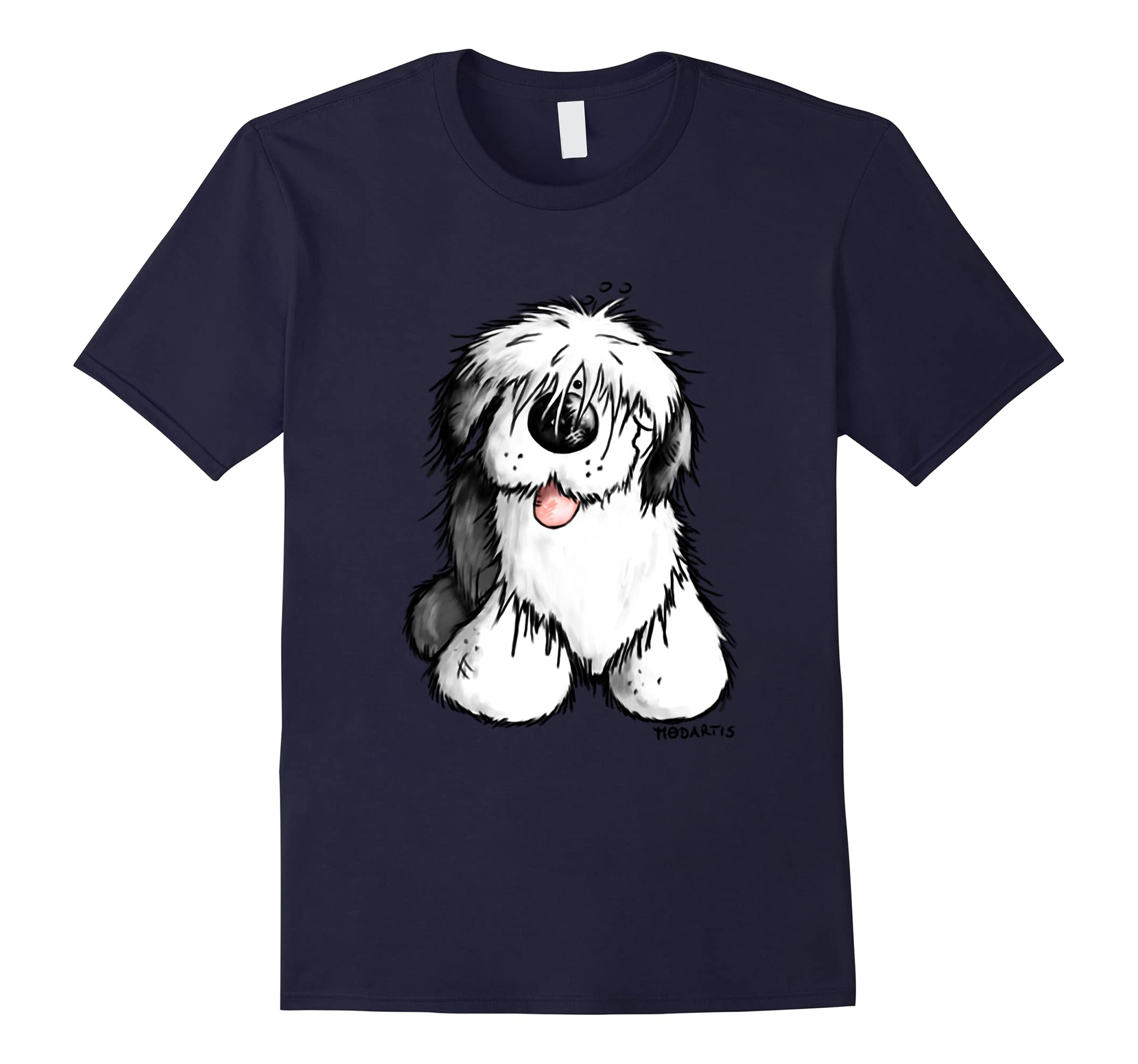 Happy Old English Sheepdog T-Shirt - Bobtail - Dog - Gift-ah my shirt one gift