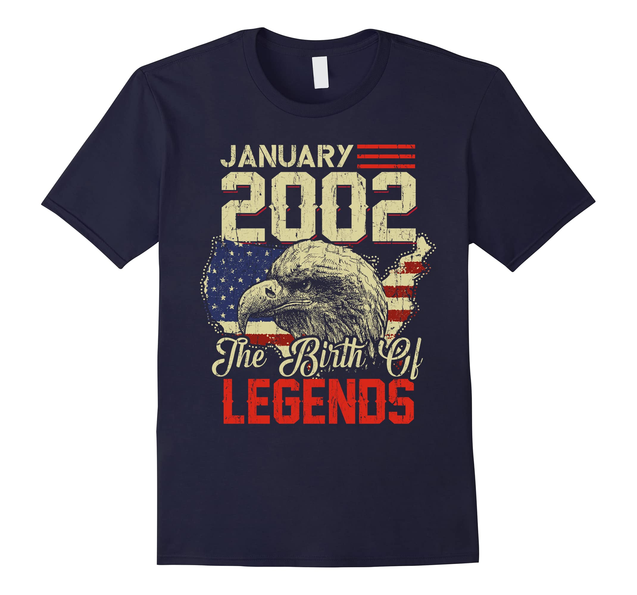2002 JANUARY Vintage The Birth Of Legends 16 Years Old Being-ah my shirt one gift