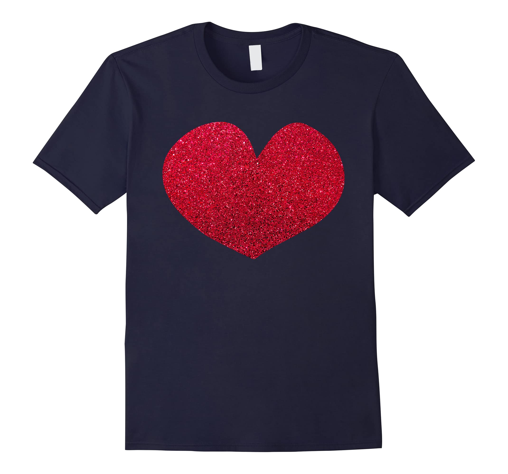 'Red Glitter Love' Cute Valentine's Day Heart Shape Shirt-ah my shirt one gift