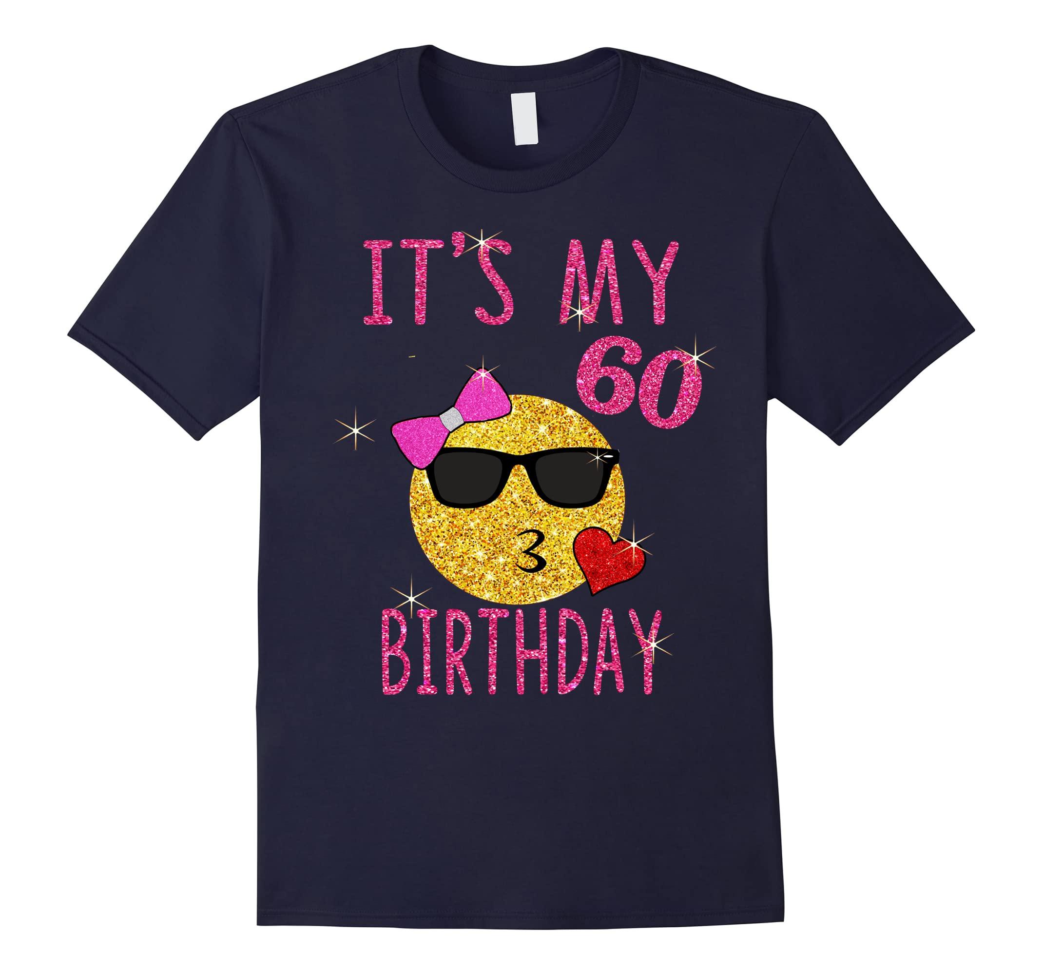 Cute Emoji 60 Years Old Shirt Its My 60th Birthday