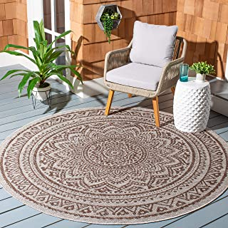 Safavieh Courtyard Collection CY8734 Indoor/ Outdoor Non-Shedding Stain Resistant Patio Backyard Area Rug, 9' x 9' Round, ...