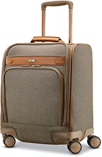 Hartmann Herringbone Deluxe Underseat Carry on Spinner, Terracotta Herringbone (Brown) - HART-123122