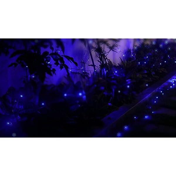 Elegear 40M 300LEDs Luci Natale Esterno IP44 Impermeabile Luci Natale Batteria con 8 Modalità Illuminazione, Decorazione per Natale, Giardino, Patio, Albero di Natale - Blu Bianco 7 spesavip
