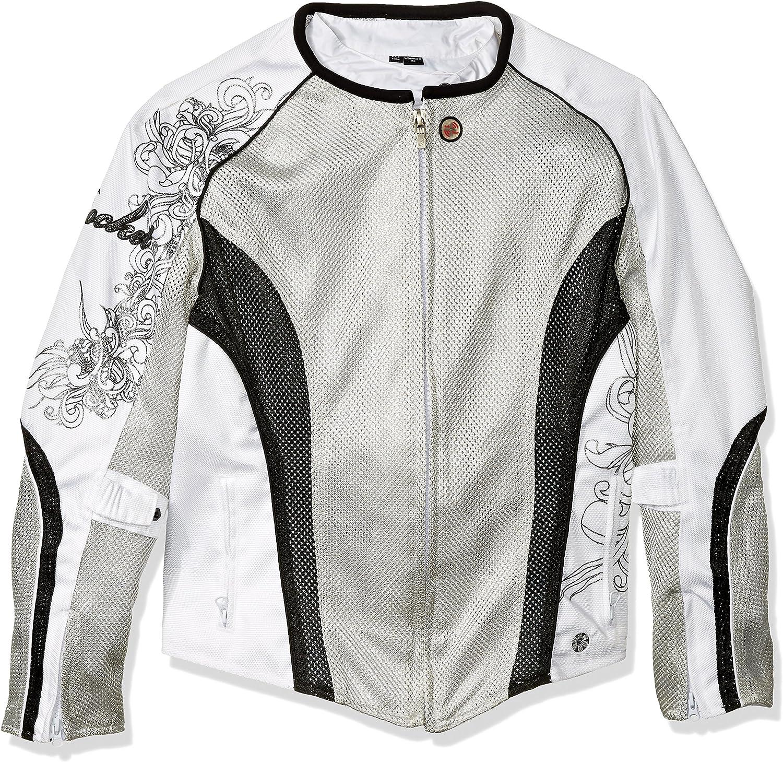 Joe Rocket 12500605 Cleo 2.2 Women's Mesh Jacket (Silver White Black, XLarge)