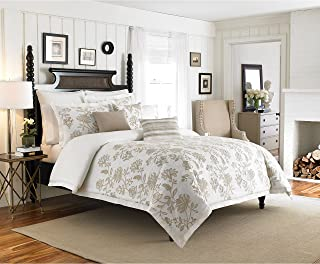 Croscill Devon Embroidered Floral Cotton Duvet Cover Full - Queen