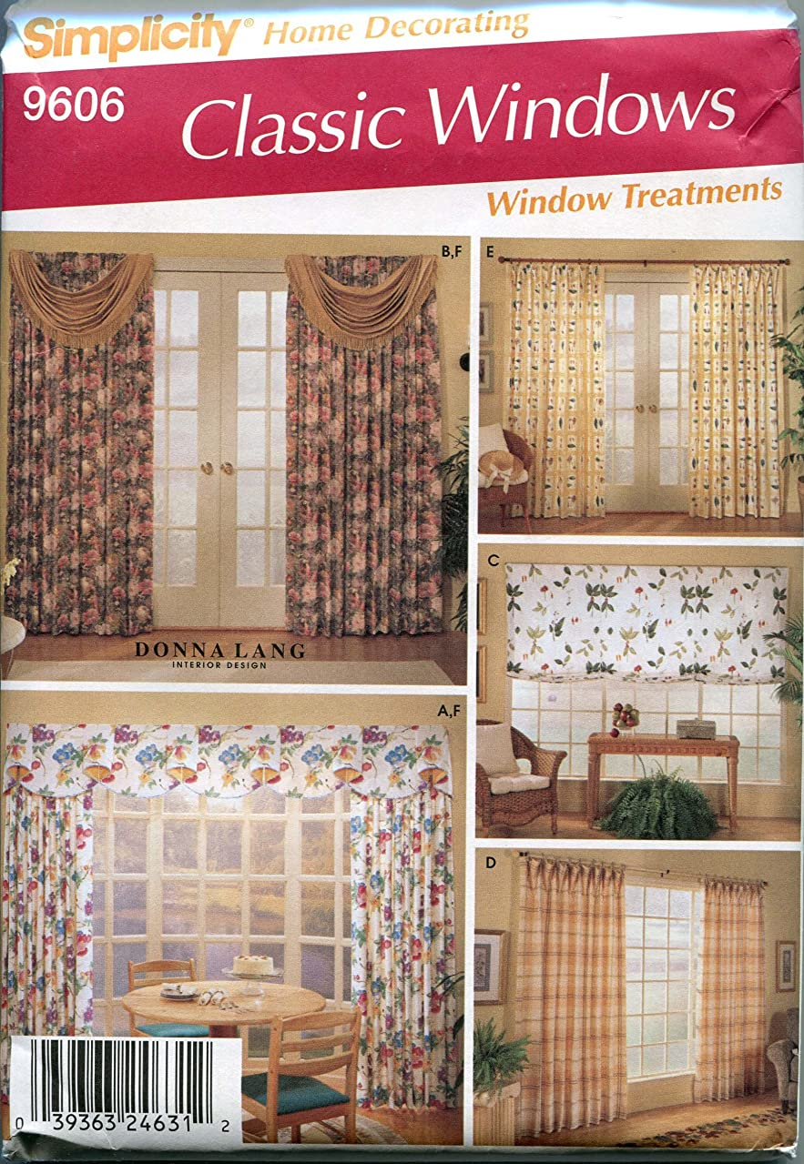 Simplicity 9606 Home Decor Sewing Pattern Drapes Swags Valance Shade