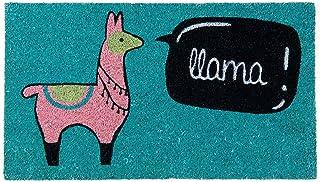 comprar comparacion Fisura DM0693 Felpudo Original y Divertido Entrada Casa Rectangular 'Llama' 70 X 40cm, Antideslizante, PVC, Coco
