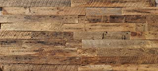 EAST COAST RUSTIC Reclaimed Barn Wood Wall Panels - Easy Install Rustic Wood DIY Wall Covering for Feature Walls (20 Sq Ft - 3.5