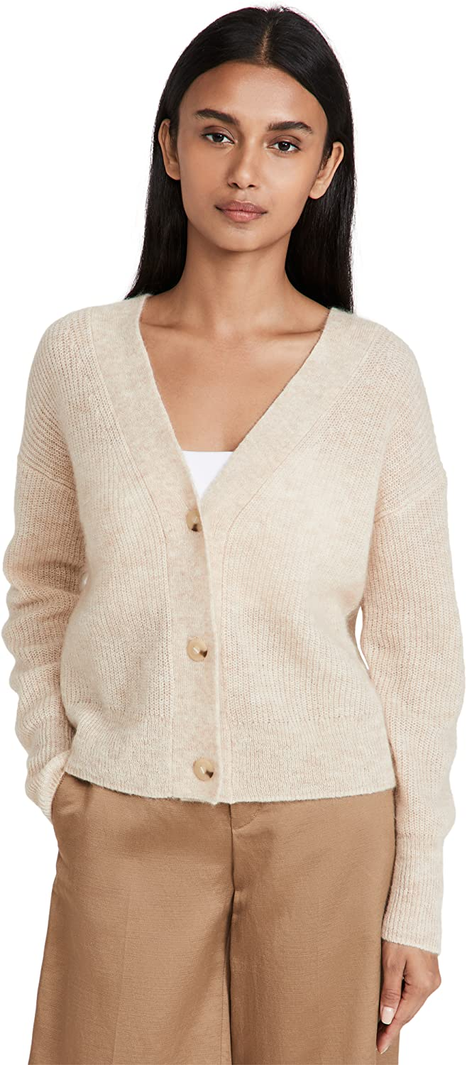 Vince Women's Featherweight Ribbed Cardigan