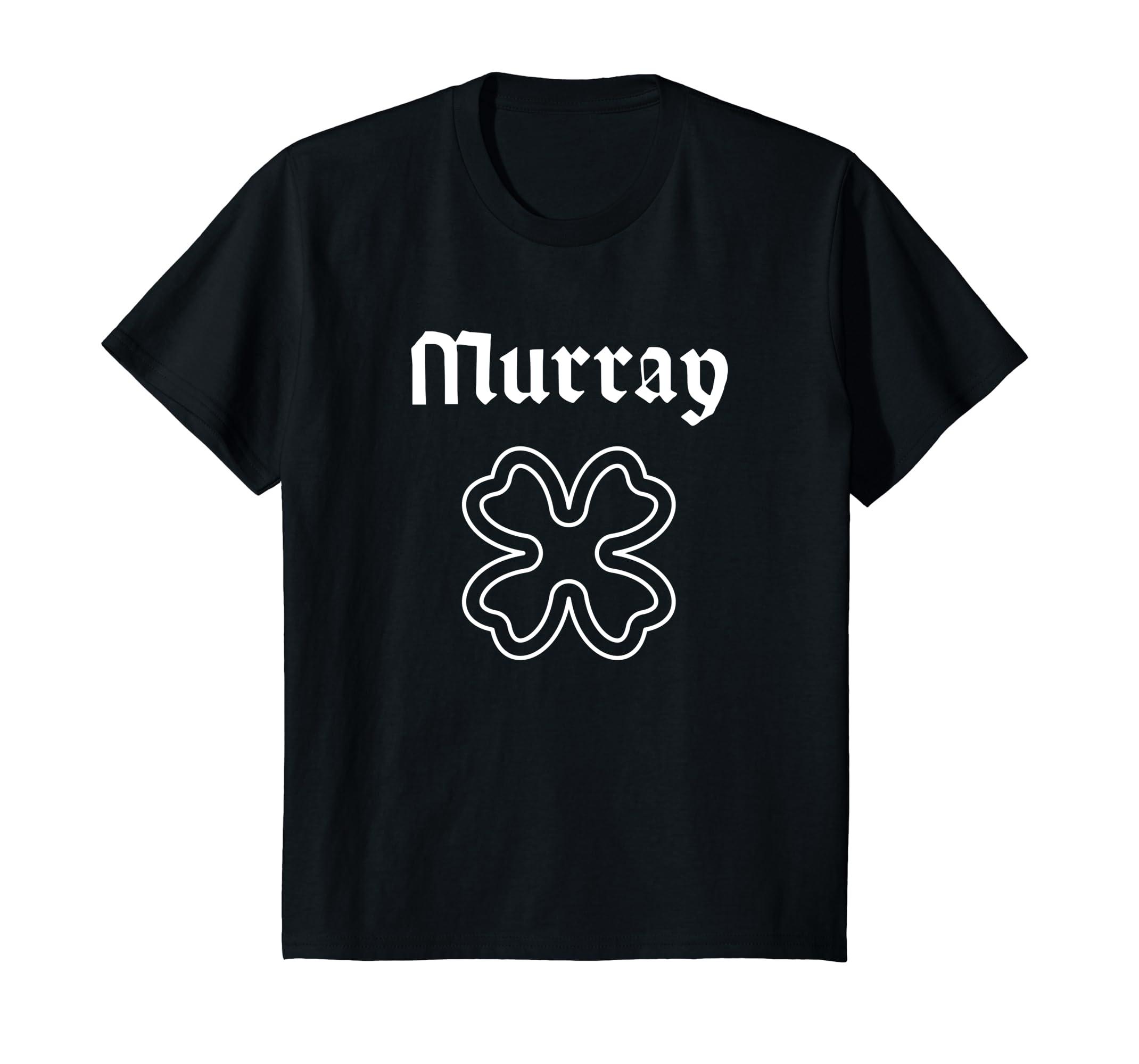 Murray Irish Surname Shamrock T Shirt